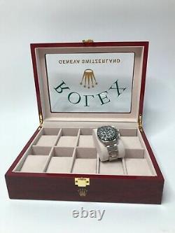 Rolex Luxury Wooden Watch Display Box / Case (Ltd Edition.) Holds 10 watches