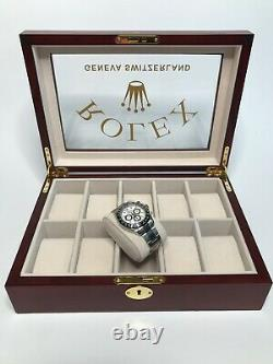 Rolex President Watch Display Box / Case Holds 10 watches