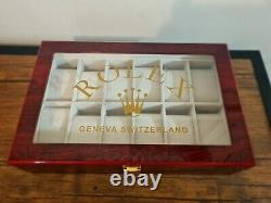 Rolex Presidential Ltd Edition Watch Display Case / Box Holds 12 watches