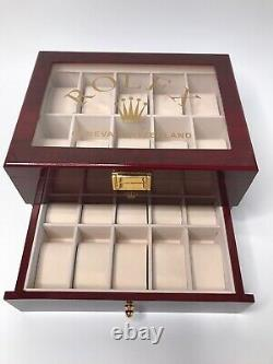 Rolex Presidential Watch Display Box / Case Holds 20 watches (Defects)