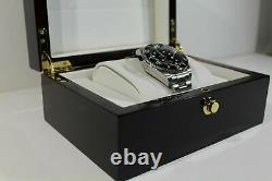 Rolex Watch Solid Piano Burled Wood Collector Presentation Box Storage Display