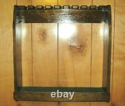 Rustic Distressed Wood Golf Club Display Rack Case for 9 Scotty Cameron Putters