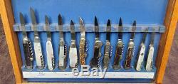 SCHRADE WALDEN DISPLAY CASE 1950's 1960's
