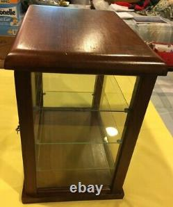 SMALL WOOD & GLASS STORE DISPLAY CASE POSSIBLY FOR GUM With3 SHELVES