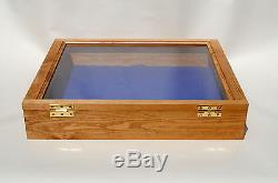 Solid Wood Bespoke Display Case / Cabinet Jewellery Coins Antique Shop Market