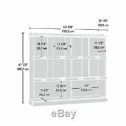 Sauder Bookcase Cubbyhole Top Shelf Storage Display Salt Oak Finish Furniture