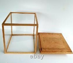 Solid Oak Wood Handmade Display Case 12 Length x 12 Width x 15 Height