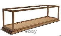 Solid Oak Wood Handmade Display Case for Train 21 Length x 8 Width x10 Height