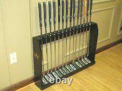 Solid Wood Floor Display Rack Case for 14 Scotty Cameron Putters / Golf Clubs