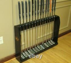 Solid Wood Floor Display Rack Case for 14 Scotty Cameron Putters set Golf Clubs