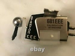Stanton 681eee Cartridge & Genuine Stanton D6800eee Stylus In Wood Display Case2