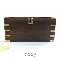 TIMEX Carriage Watch Locking Display Case Wood Brass Beveled Glass Velvet Lined
