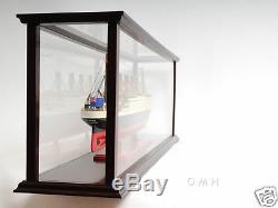 Table Top Ship Model Wood Display Case 32 Medium Ocean Liner & Cruise Ships New