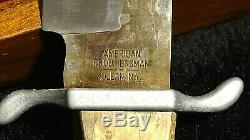 The American Frontiersman Commemorative Knife collection with display case 1972 S