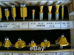 Toughest Router Bit Set 50 pieces with Wood and Glass Display Case