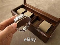 Toyooka Craft Wooden Alder Watch Case Box Display 4 collection Slot Storage NEW