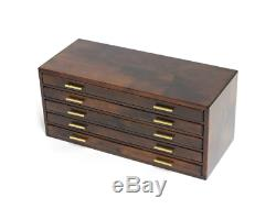 Toyooka Wood Stationery Fountain Pen Box Case Display 100 Slot Collection Japan
