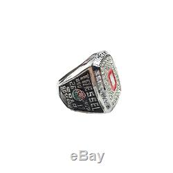 USA Ohio State Buckeyes 8 Championship Ring Set With Cherry Wood Display Case