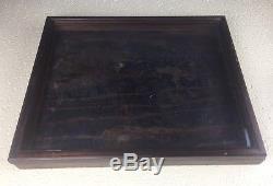 VINTAGE TABLETOP WOOD GLASS RECTANGULAR SHOWCASE DISPLAY CASE 16 x 13 x 1 1/2