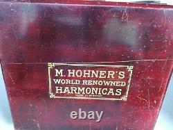 Vintage Antique Hohner Harmonica Store Wood Display Case