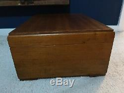 Vintage /Antique Wood Wooden Display Box Case With Further Pull Drawer Display