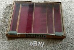 Vintage Gillette Wood Store Display Case Shaving Razor Barber Shop