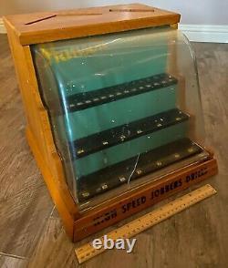 Vintage Hanson High Speed Drill Bit Hardware Store Wooden Retail Display Case