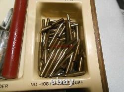 Vintage Hunt Artist Pens Display Case Full of Tips Nibs