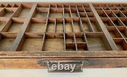 Vintage Letterpress Type Case Printers Tray Wood Curios Display Refurbished