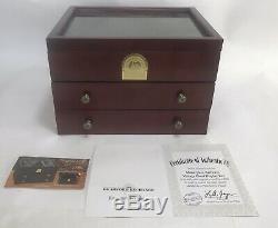 Vintage Masterpiece Railway Wood Train Display Box Case Hawthorne Village Wood