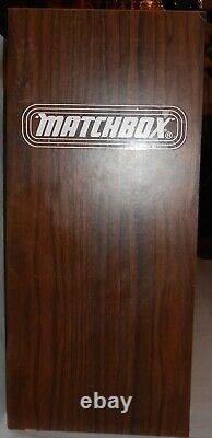 Vintage Matchbox Wood Dealer Display Case Rare with 81 Cars included Lesney