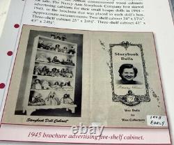 Vintage Nancy Ann Wood Doll Display Cabinet Case Original