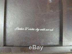 Vintage Parker 51 Writes Dry with Wet Ink Glass Display Case, Key, 32x21x20