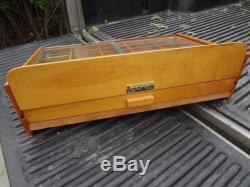 Vintage Sheaffer's Leads Glass Wood Display Case