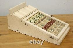 Vintage Speedball Calligraphy Pen Point Advertising wood glass Display Case knib