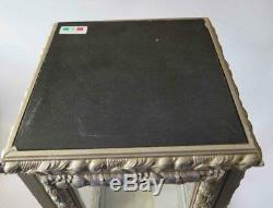 Vintage Vitrine Display Case / Cabinet Glass / Wood / Marble Top Made in Italy 2