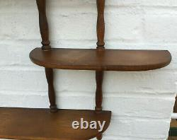 Vintage Wall Shelf Curio Display Solid Wood Color Medium 1950-1960's