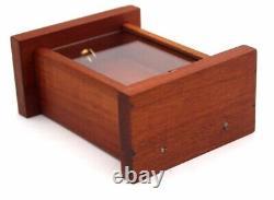 Vintage Wood Glass Antique Pocket Watch Holder Display Stand Case