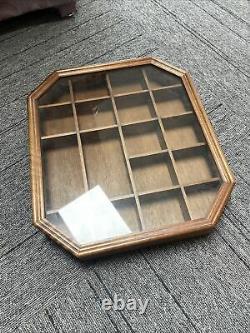 Vintage Wood Shadow Box Hanging Curio Miniature Display Case withGlass Door