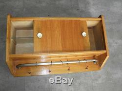 Vintage Wood Wall Shelf Shelving Display Shelf stand Cabinet pharmacy Medicine