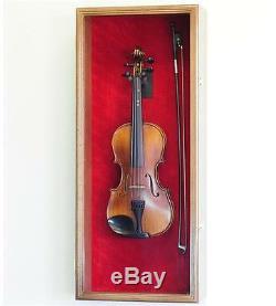 Violin / Mandolin Display Case Cabinet Wall Rack Holder LED LIGHTS