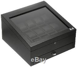 Volta 15 Watch Display Storage Case Mens Box 31-560970 Carbon Fiber Wood