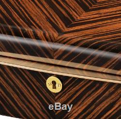 Volta Ebony Wood Black Leather 10 Watch Case Mens Display Box 31-560930