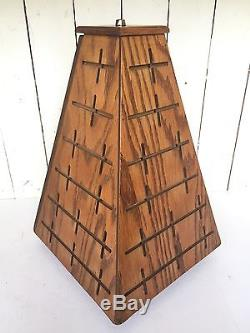 Vtg Great American Belt Buckle General Store Rotating Pyramid Wood Display Case