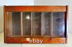 Vtg Remington Du Pont Hi-Speed 22s Kleanbore Wood Display Case Counter Table Top