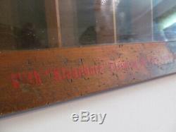 Vtg Remington Hi-Speed 22's Bullet Display Wood Case/Cabinet