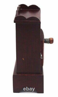 Vtg Wood Glass Antique Pocket Watch Holder Display Stand Case Handmade