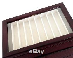 WANCHER fountain pen Wood Dark Brown Color 50 Collection Display Case