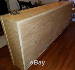 WOODEN BASEBALL BAT DISPLAY CASE Holds 2 Bats Oak acrylic wood