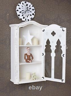 Wall Cabinet Showcase Hanging Display Gothic Wardrobe Wood Case
